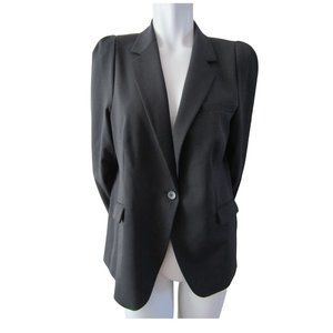 Zara Woman Charcoal Grey Wool Blend Blazer XL